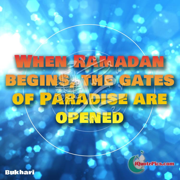 Ramadan begins hadith about paradise image.