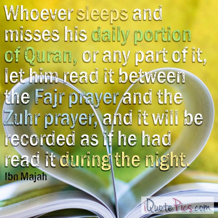 Recite Quran Between Salah