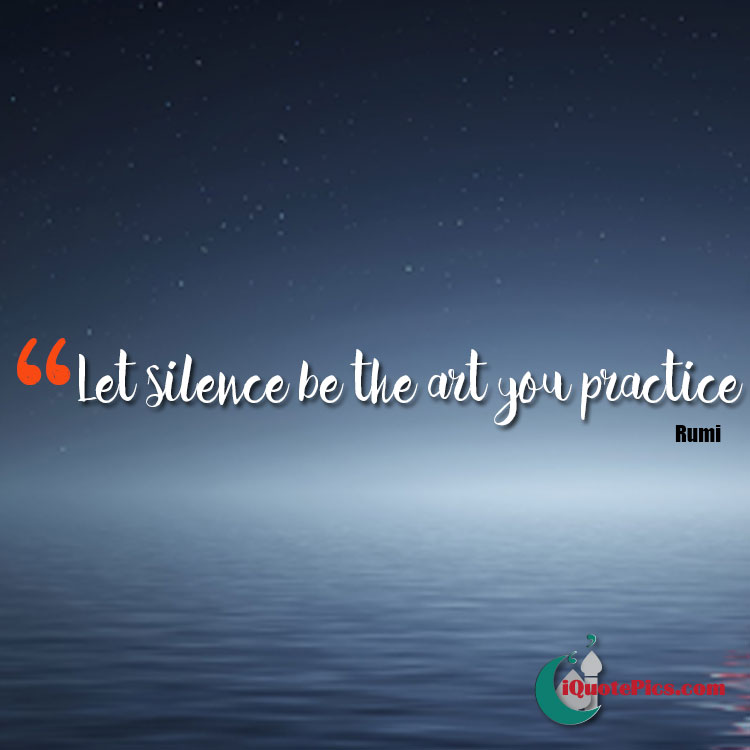 Let silence be the art you practice on water background. Tranquil surrounding.