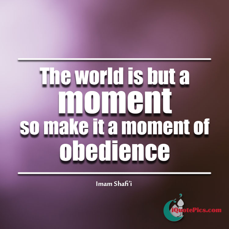 Make it a moment of obedience in this life picture quote.
