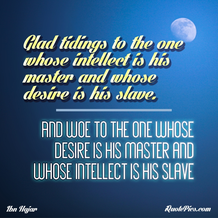 Intellect and desires | Ibn Hajar Al-Asqalani