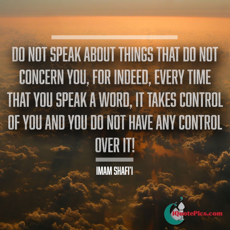 Picture With Quote Of Do Not Speak About Things That Concern You For