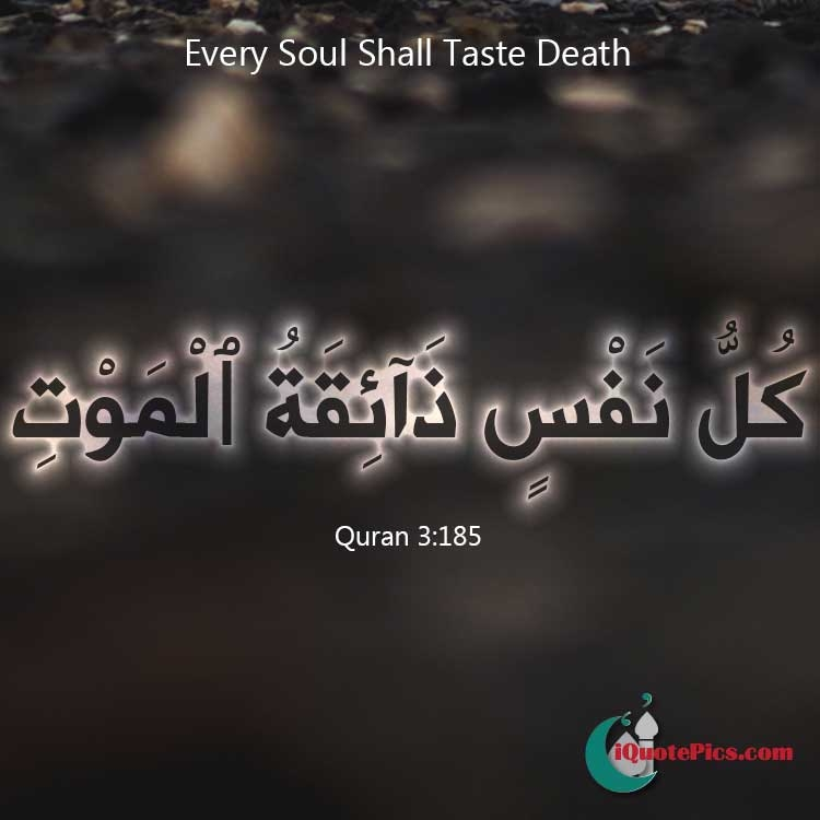 Picture With Quote Of Every Soul Shall Taste Death