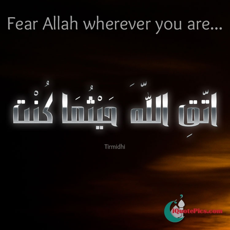 Downloading Arabic Quotes: Fear Allah Wherever You Are